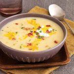 سوپ سیب زمینی و شیر متفاوت و خوشمزه