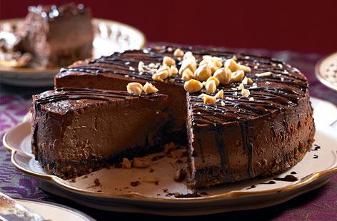 طرز تهیه چیزکیک شکلاتی خوشمزه با گردو