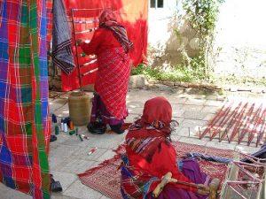 چادر شب بافی در گیلان