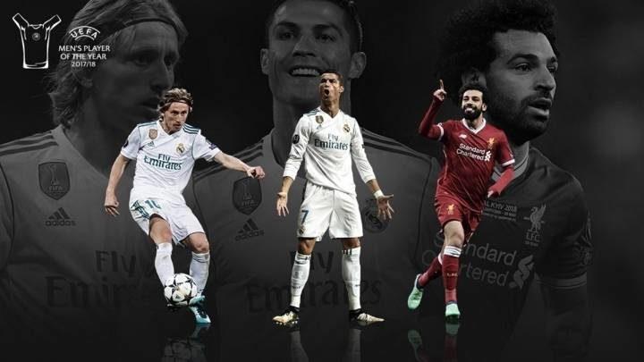 کاندیدای بهترین بازیکن اروپا در سال 2018 از سوی یوفا اعلام شد.