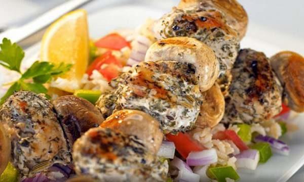 کباب مرغ به همراه قارچ ویژه شام