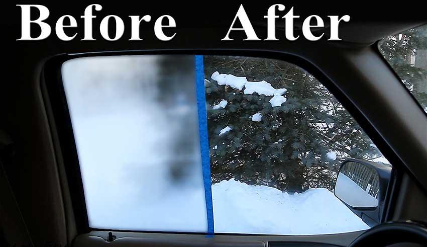 از بین بردن بخار شیشه ماشین