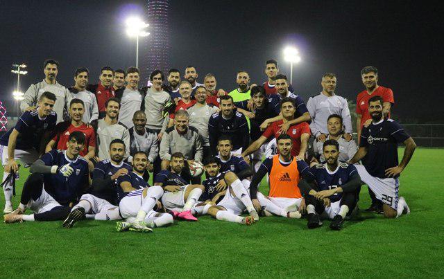 عکس بازیکنان تیم ملی در حال آماده سازی جام ملت های 2019