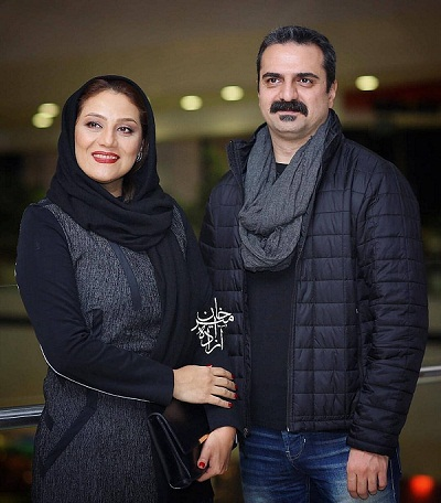 علیرضا آرا و همسرش در اکران فیلم کلمبوس