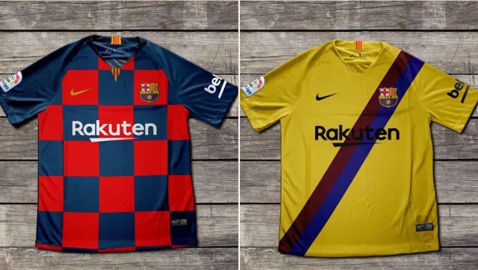 عکس پیراهن بارسلونا