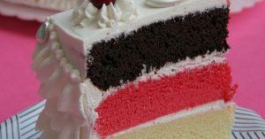 کیک چند رنگ