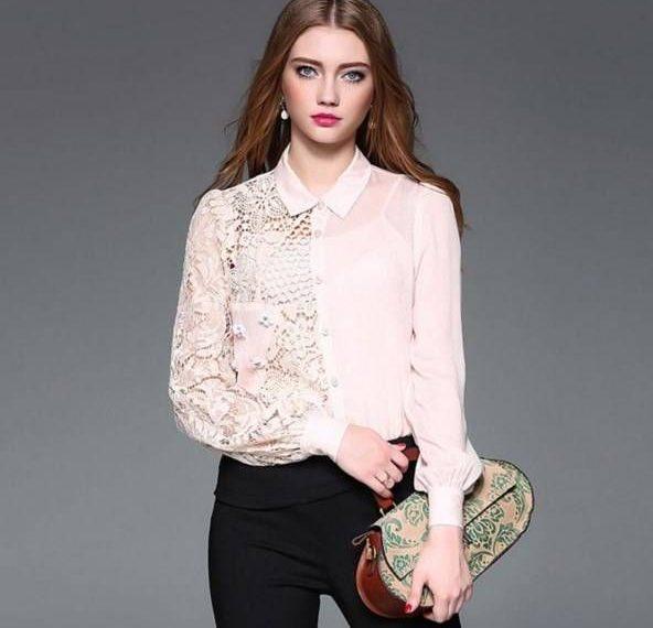 مدل بلوز حریر گلدار
