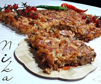 کوکو ماکارونی خوشمزه با پنیر پیتزا