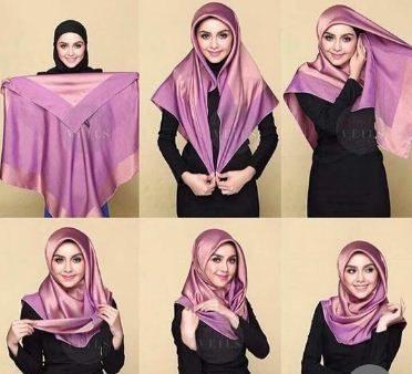 مدل بستن شال با حجاب