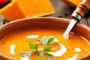 سوپ کدو حلوایی خوشمزه برای پاییز