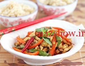 مرغ سرخ شده را با سبک جدید آسیایی درست کنید
