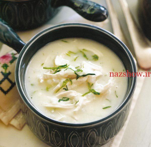 طرز تهیه سوپ با مرغ به سبک یونانی