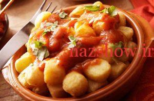 غذا ساده با سیب زمینی
